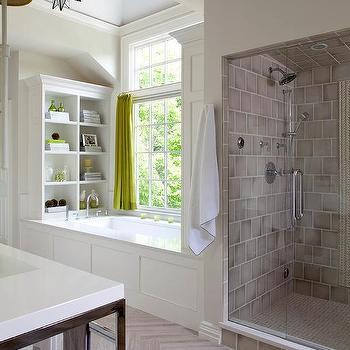 Chartreuse Bathroom Curtains Design Ideas