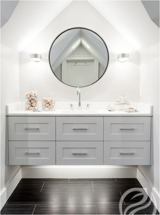 Bathroom mirrors restoration hardware - Cathedral Ceiling Design Ideas