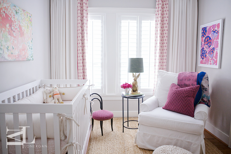 purple and gray nursery transitional nursery. Black Bedroom Furniture Sets. Home Design Ideas