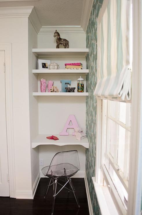 Kids Nook With Floating Desk And Shelves
