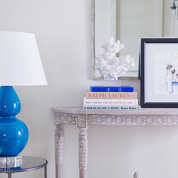 French Half Moon Console Table