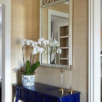Perfect Blue Lacquer Console Table Design Ideas IP56