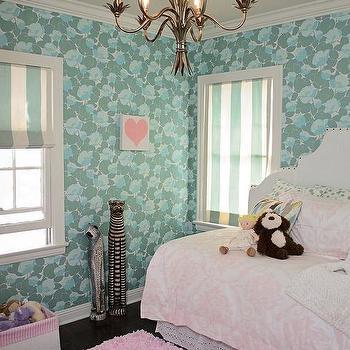 Pink kids room ceiling