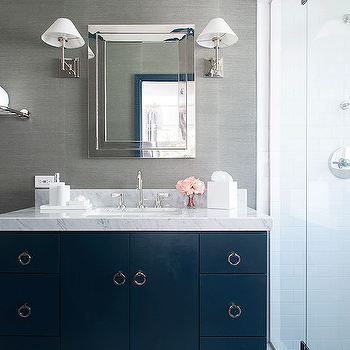 Navy And White Bathroom Ideas. Navy Blue And Gray Bathrooms