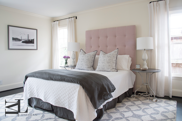 View Full Size. Pink And Gray Bedroom ...