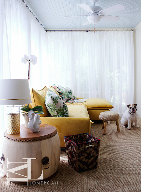 Yellow Velvet Sectional : sunroom sectional - Sectionals, Sofas & Couches