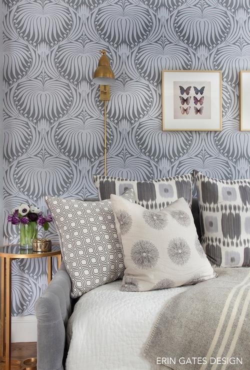 Gray And Blue Guest Room Design Ideas