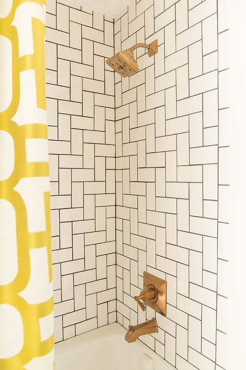 Shower Tile Patterns Contemporary Bathroom