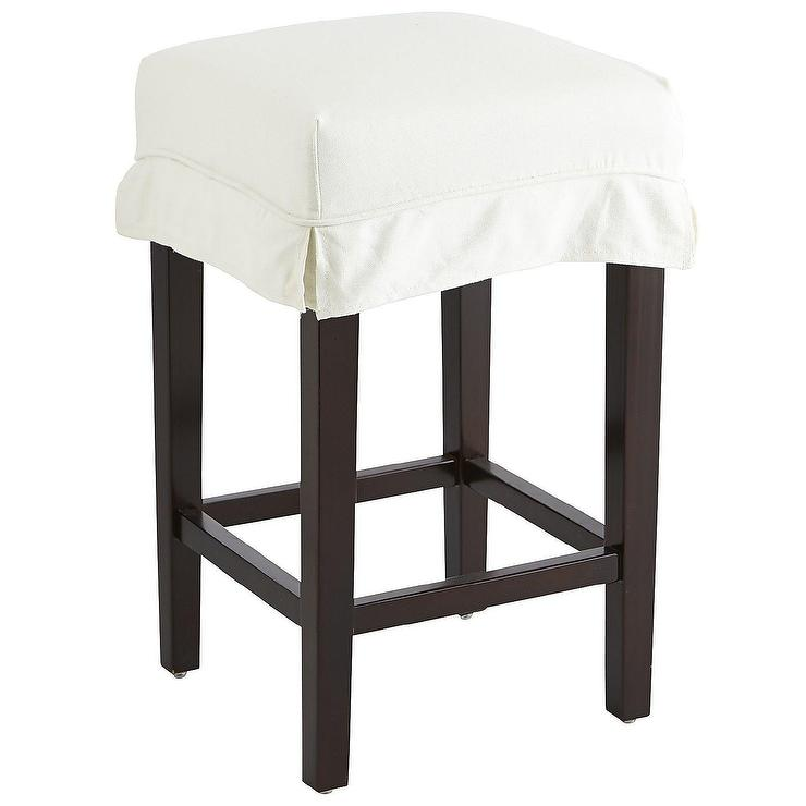 Dana Bar And Counter Ivory Stool Slipcover