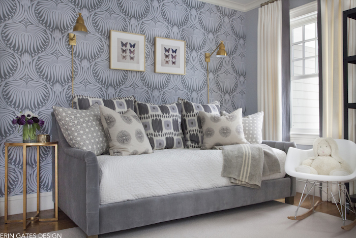 Blue And Gray Guest Bedrooms Transitional Bedroom