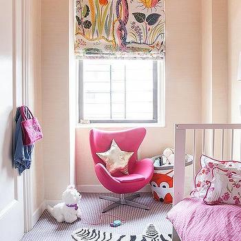 kids room with pink accent chair - Metallic Kids Room Interior