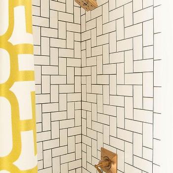 Bathroom Subway Tile Pattern penny tiled shower niche - contemporary - bathroom