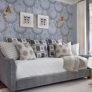 Guest Room Gray Daybed Design Ideas