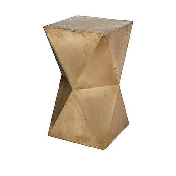 Faceted Stool with Brass Cladding design by Lazy Susan