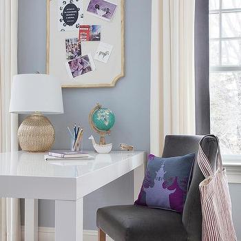 Girl's Homework Room, Transitional, Den/library/office