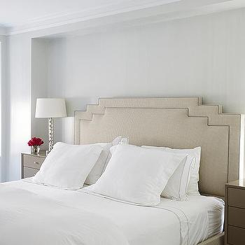 Bedroom With Taupe Nightstand Transitional Bedroom