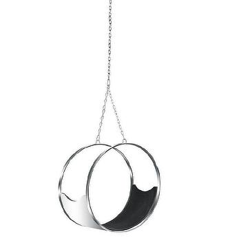 Steel Ring Silver Hanging Chair