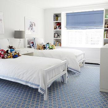 White and Blue Boys Bedrooms, Contemporary, Boy's Room