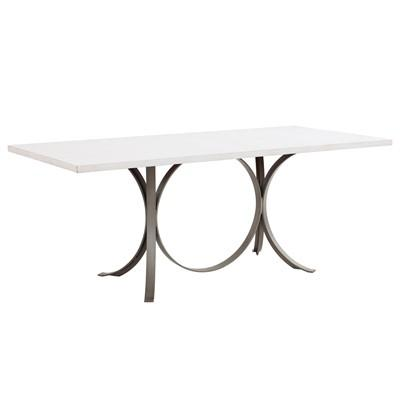 Redford House Manhattan Rectangle White Dining Table