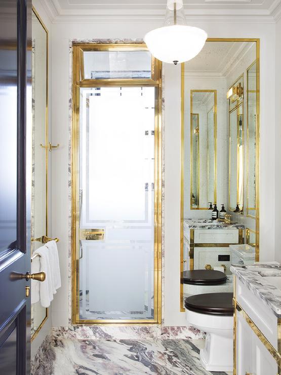 Bathroom Door Frame Design : Black and gold floor mirror design decor photos