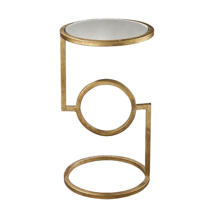 Hurricane Gold Side Table - Gold Side Table