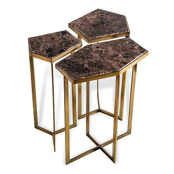 Nya Bunching Tables in Chocolate design by Interlude Home