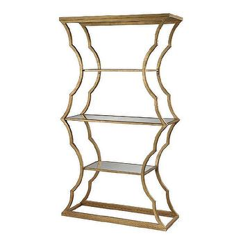 Metal Cloud Bookcase in Gold Leaf design by Lazy Susan