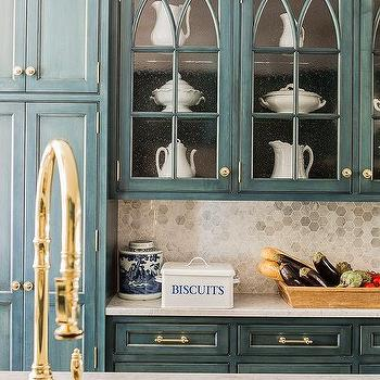 Blue Country Kitchen Design