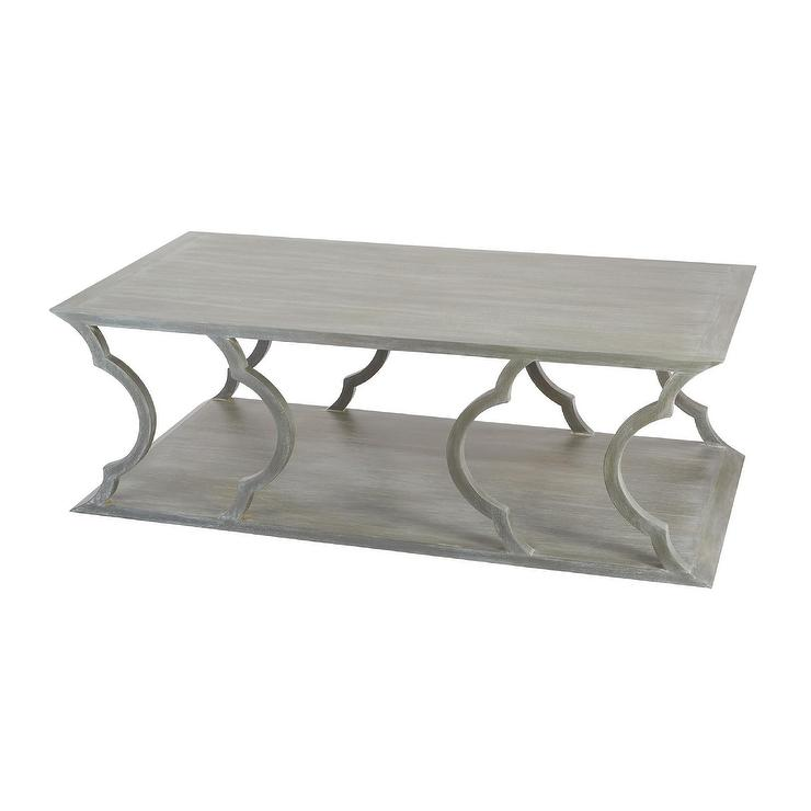 Marvelous Mahogany Cloud Grey Coffee Table