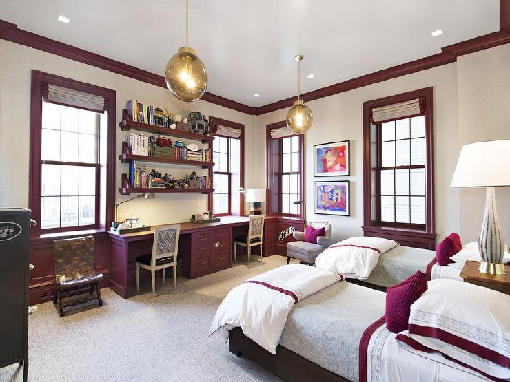 Purple Built in Cabinets - Contemporary - Boy\'s Room