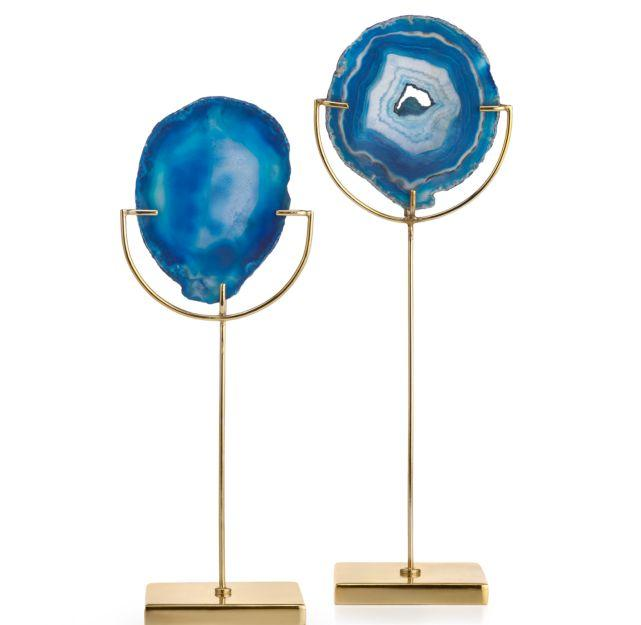 framed agate slices.htm agate blue tealight  agate blue tealight