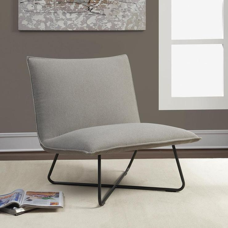 Grey Pillow Lounge Chair