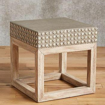 Cowrie Shell Side Table