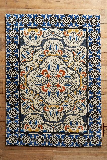 Very Regalia Tufted Navy Floral Area Rug PH29