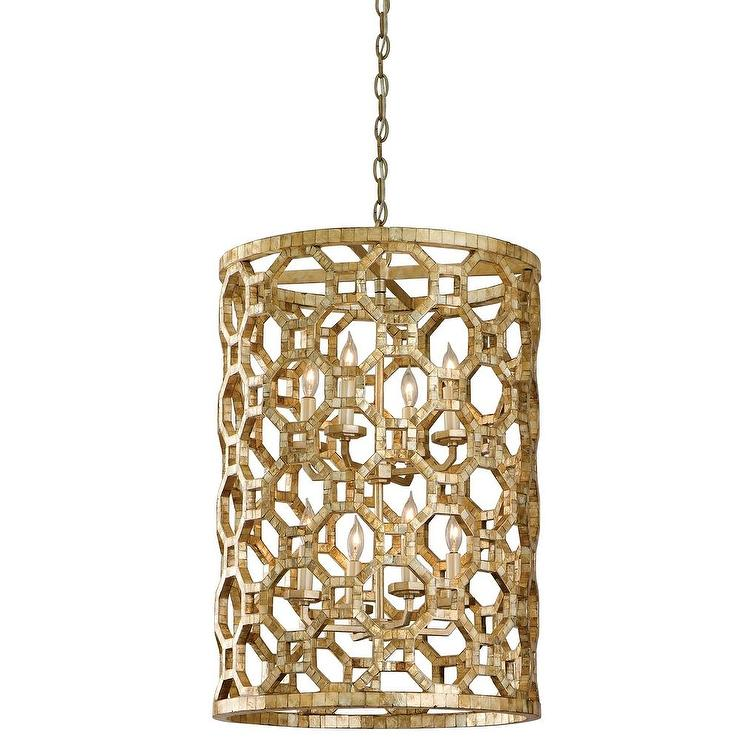 Lighting Regatta Eight Light Entry Gold Pendant