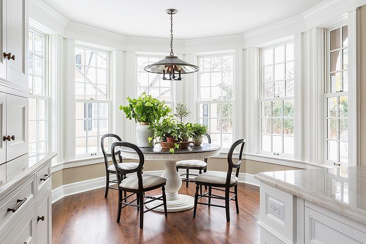 Bay Window Breakfast Nook White