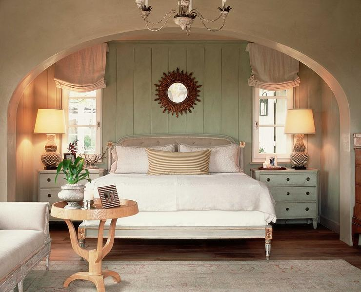 Arched bedroom alcove cottage bedroom for French cottage bedroom ideas