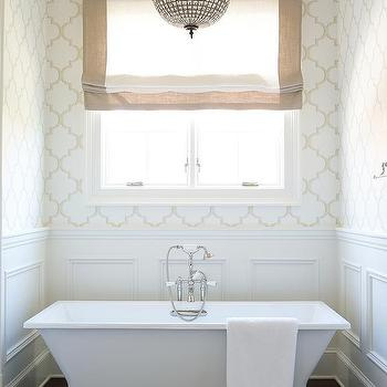 Master Bathroom Wainscoting Design Ideas