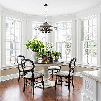 White Kitchen Nook Dining Sets bay window breakfast nook design ideas