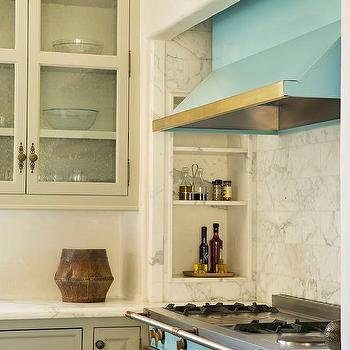 Turquoise Stove And Turquoise Kitchen Hood