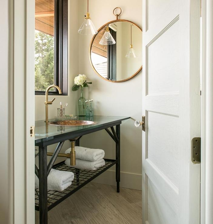 Cottage Washstand With Copper Sink