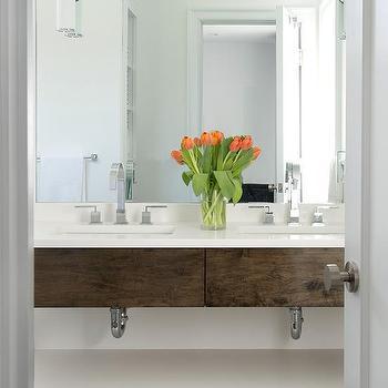 Contemporary Master Bathroom Washstand