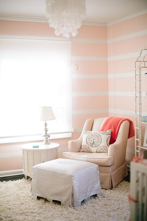 Striped Nursery Accent Wall Design Ideas