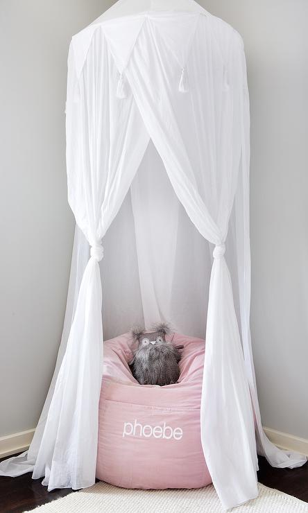 Cotton Voile Play Canopy Transitional Girl S Room