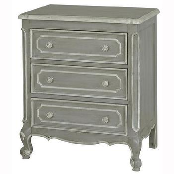Hand Painted Distressed Taupe Finish Accent Chest