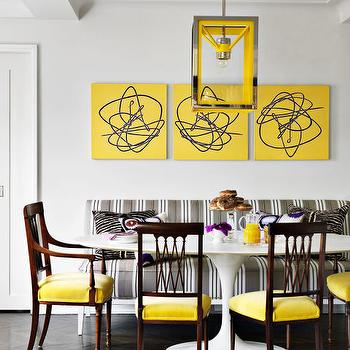 Yellow dining room chairs top 25 best yellow dining for Grey and yellow dining room ideas