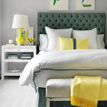 Yellow and Green Bedrooms, Contemporary, Bedroom