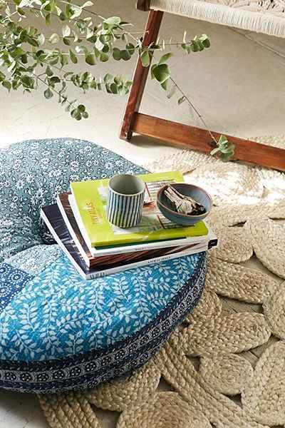 Plum and Bow Tabitha Blue Floor Pillow
