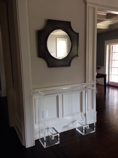 Attractive ... Acrylic Waterfall Console Table With Greek Key Base View Full Size