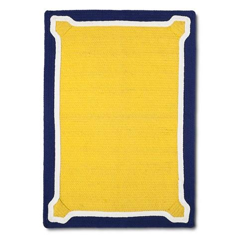 Threshold Braided Yellow And Navy Accent Rug